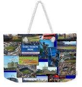 Chicago Cubs Collage Weekender Tote Bag