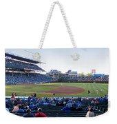 Chicago Cubs Pregame Time Panorama Weekender Tote Bag