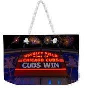Chicago Cubs Win Fireworks Night Weekender Tote Bag