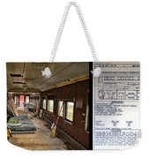 Chicago Eastern Il Rr Business Car Restoration With Blue Print Weekender Tote Bag