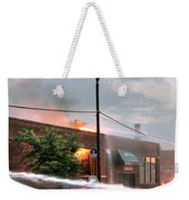 Chicago Firemen At Work Weekender Tote Bag