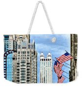 Chicago - Flags Along Michigan Avenue Weekender Tote Bag