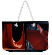 Chicago Flamingo Abstract 01 2 Panel Weekender Tote Bag