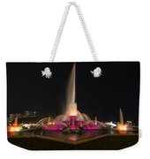 Chicago Fountain At Night Weekender Tote Bag