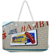 Chicago Hot Dog Joint Weekender Tote Bag
