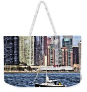 Chicago Il - Sailing On Lake Michigan Weekender Tote Bag