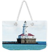 Chicago Illinois Harbor Lighthouse Close Up Usa Weekender Tote Bag