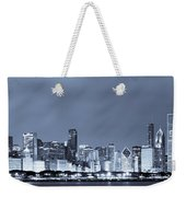 Chicago In Blue Weekender Tote Bag