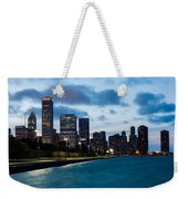 Chicago Lake Front At Blue Hour Weekender Tote Bag