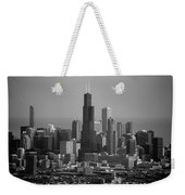 Chicago Looking East 02 Black And White Weekender Tote Bag