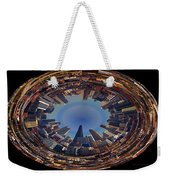 Chicago Looking East Polar View Weekender Tote Bag by Thomas Woolworth