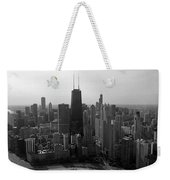 Chicago Looking South 01 Black And White Weekender Tote Bag
