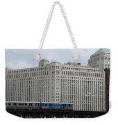 Chicago Merchandise Mart And Cta El Train Weekender Tote Bag