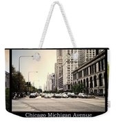 Chicago Michigan Ave Field Museum Art Institute Triptych 3 Panel Weekender Tote Bag