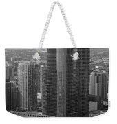 Chicago Modern Skyscraper Black And White Weekender Tote Bag