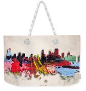 Chicago Painted City Skyline Weekender Tote Bag