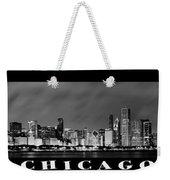 Chicago Panorama At Night Weekender Tote Bag