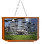 Chicago Pritzker Music Pavillion Triptych 3 Panel Weekender Tote Bag