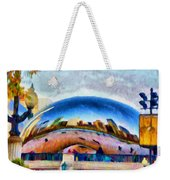 Chicago Reflected Weekender Tote Bag by Jeff Kolker