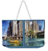 Chicago River 2 Panel Weekender Tote Bag