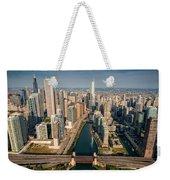 Chicago River Aloft Weekender Tote Bag