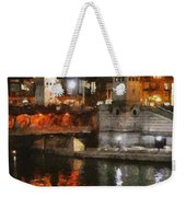 Chicago River At Michigan Avenue Weekender Tote Bag