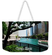 Chicago River Front Weekender Tote Bag