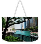 Chicago River Scene Weekender Tote Bag