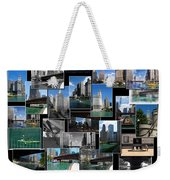 Chicago River Walk Collage Weekender Tote Bag