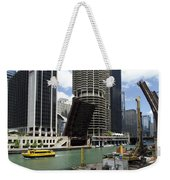 Chicago River Walk Construction Weekender Tote Bag