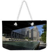Chicago River Walk Going East 02 Weekender Tote Bag