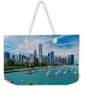 Chicago Skyline Daytime Panoramic Weekender Tote Bag