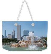 Chicago Skyline And Fountain Weekender Tote Bag