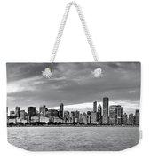 Chicago Skyline Black And White Weekender Tote Bag