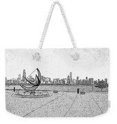 Chicago Skyline Hard Ink Weekender Tote Bag