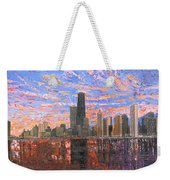 Chicago Skyline - Lake Michigan Weekender Tote Bag