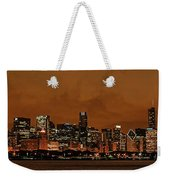 Chicago Skyline Panorama At Dusk Weekender Tote Bag
