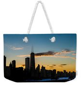Chicago Skyline Silhouette Weekender Tote Bag