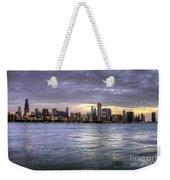 Chicago Skyline Sunset Weekender Tote Bag