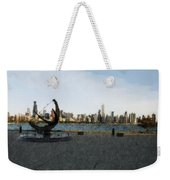 Chicago Skyline Water Color1 Weekender Tote Bag