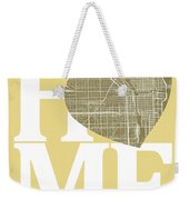 Chicago Street Map Home Heart - Chicago Illinois Road Map In A H Weekender Tote Bag