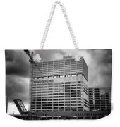 Chicago Sun Times Facade After The Storm Bw Weekender Tote Bag