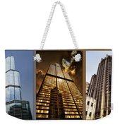 Chicago Tall Shoulders Trump Sears Tribune Triptych 3 Panel 01 Weekender Tote Bag
