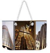 Chicago Tall Shoulders Trump Sears Tribune Triptych 3 Panel 02 Weekender Tote Bag