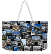 Chicago The Bean Collage Weekender Tote Bag