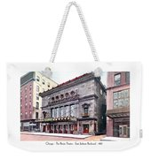 Chicago - The Illinois Theatre - East Jackson Boulevard - 1910 Weekender Tote Bag