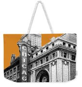 Chicago Theater - Dark Orange Weekender Tote Bag
