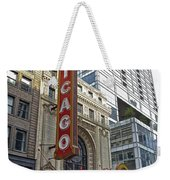 Chicago Theater Facade Northside Weekender Tote Bag