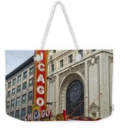 Chicago Theater Facade Southside Weekender Tote Bag