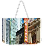 Chicago Theater Marquee Sign On State Street Weekender Tote Bag